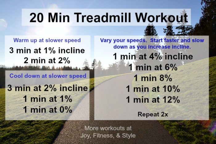 20 Min Treadmill Workout