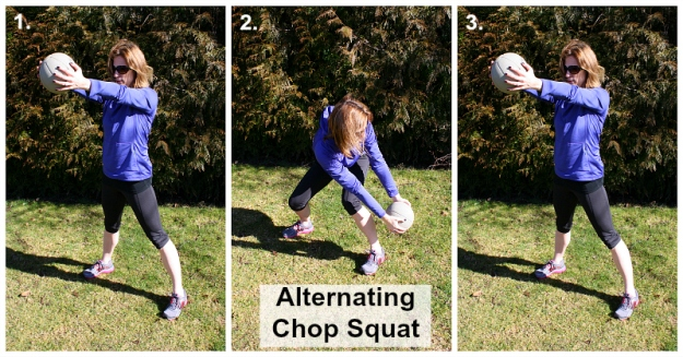 MB Alternating Chop Squat