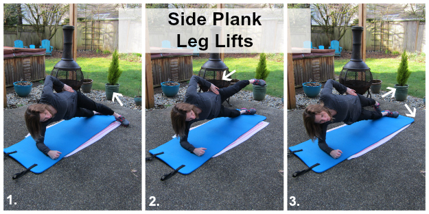 Side Plank  Leg Lifts