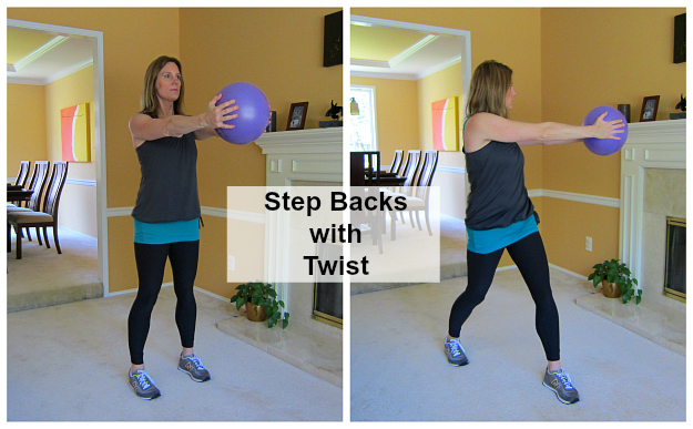 Step Backs with Twist