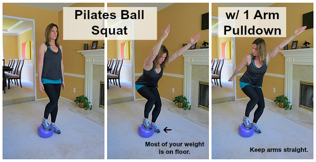 Pilates Ball Squats
