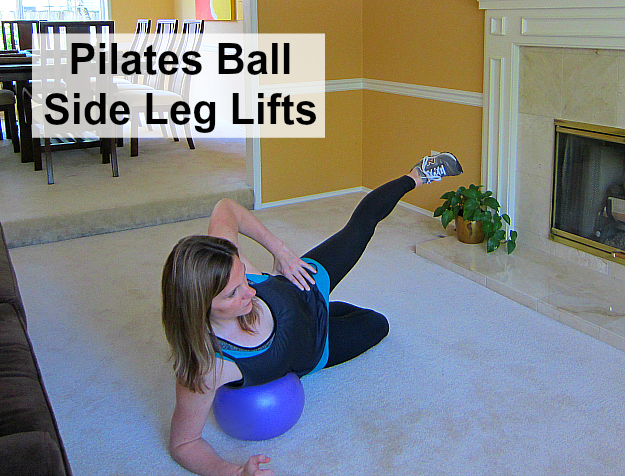 Pilates Ball Side Leg Lifts