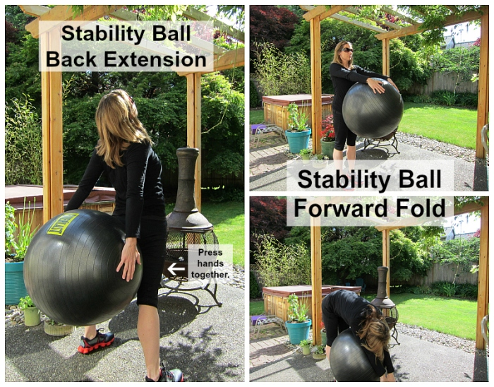 Stability Ball Back Extension & Forward Fold