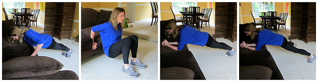 Couch Potato Pushups Dips and Plank Jacks