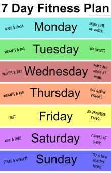 7 Day Fitness Plan
