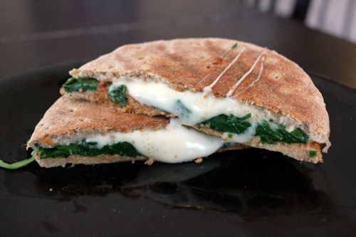 Cheese and Spinach Sandwiches