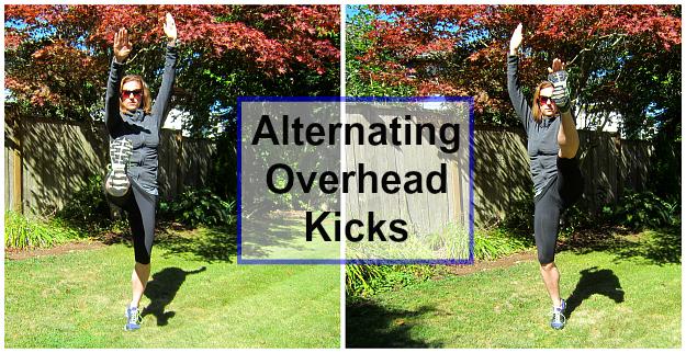 Alternating Overhead Kicks