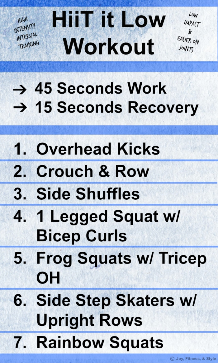 HiiT it Low Workout