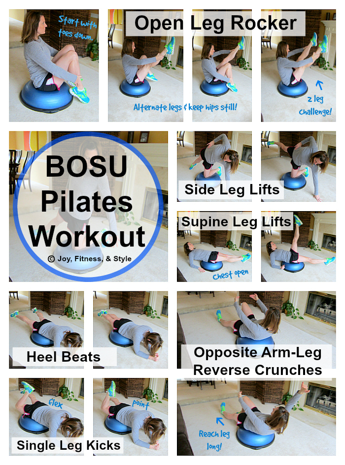 Bosu Pilates Workout Joy Fitness Amp Style