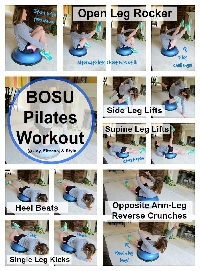 Bosu Pilates Workout Joy Fitness Amp Style