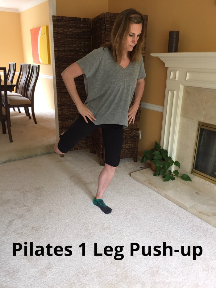 Pilates 1 Leg Pushup