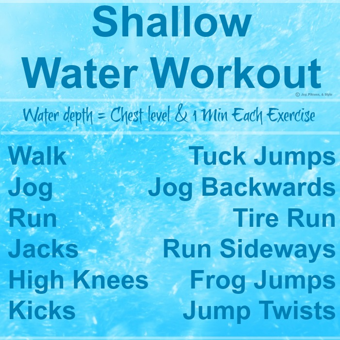 Burn Calories With This Water Workout Joy Fitness Style