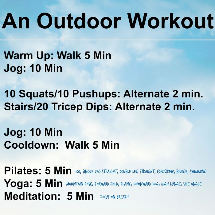An Outdoor Workout