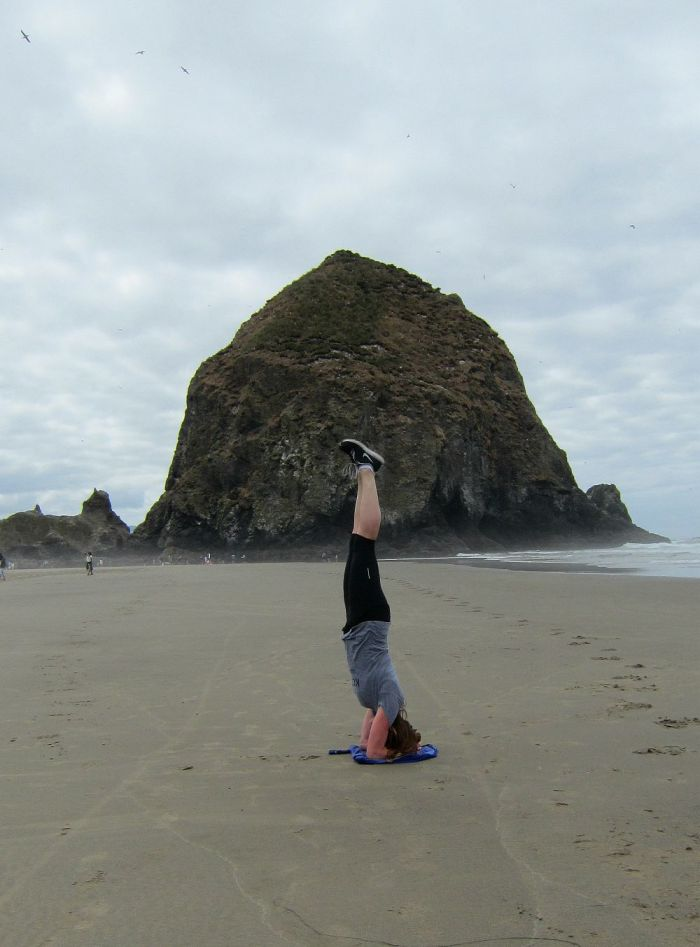 Cannon Beach Headstand
